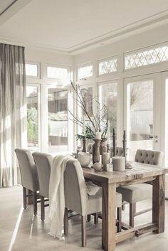 75 Modern Farmhouse Dining Room Decor Ideas - #decor #dining #farmhouse #ideas #modern - #Genel