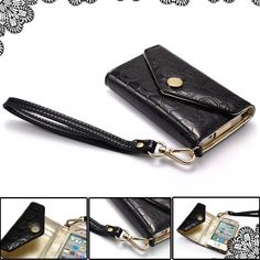 Leather Cases Horizontal Flip Luxury Handbag For Apple iPhone 4 & Apple iPhone 4s
