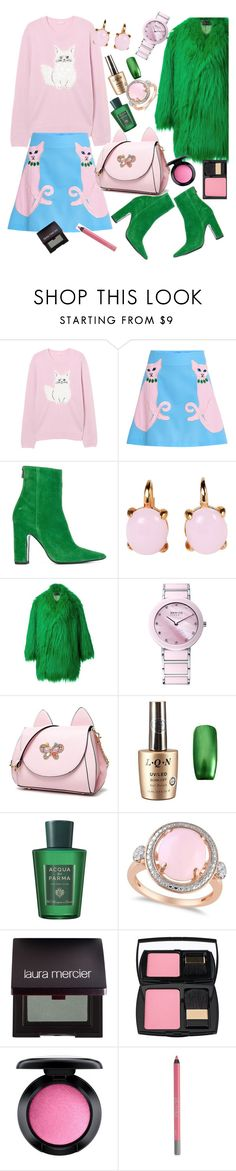 """pink"" by lisacom ❤ liked on Polyvore featuring VIVETTA, Barbara Bui, Rina Limor, G.V.G.V., Acqua di Parma, Allurez, Laura Mercier, Lancôme, MAC Cosmetics and Urban Decay"