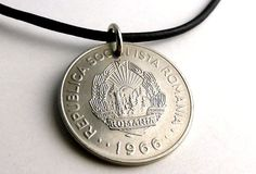 Romanian necklace Coin necklace Coin Jewelry Mens by CoinStories