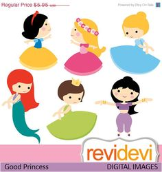 55 OFF Cliparts Good Princess 07424 by revidevi on Etsy