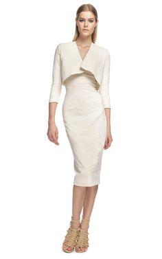 Donna Karan New York: Spiral Seamed Cross Back Sheath Dress. love the dress, shoes don't match
