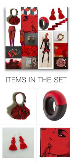 """""""Modern Red"""" by crystalglowdesign ❤ liked on Polyvore featuring art and modern"""