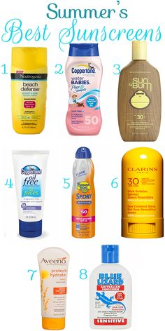 Summer's Best Sunscreens + Sunscreen Application Tips