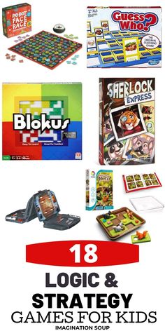 The Best Educational Games for Kids: Logic and Strategy Learning Games For Kids, Educational Games For Kids, Games To Play, Family Game Night, Family Games, Guessing Games, Strategy Games, Parent Resources, Best Games