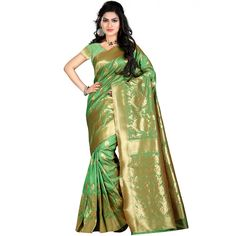 Miraculous Green Color Party wear & Designer Saree at just Rs.1630/- on www.vendorvilla.com. Cash on Delivery, Easy Returns, Lowest Price.