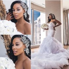 Natural Hair Bride-To-Be? Check out Hair Inspiration For The Natural Hair Bride - Wedding Digest Naija Wedding Looks, Wedding Bride, 2017 Wedding, Wedding Ideas, Wedding Updo, Gown Wedding, Wedding Blog, Black Brides Hairstyles, African American Weddings