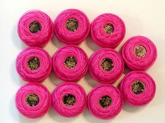 11 DMC Perle Pearl Cotton CROCHET THREAD Balls Size *8* Pink #603 95 Yds NEW #DMC