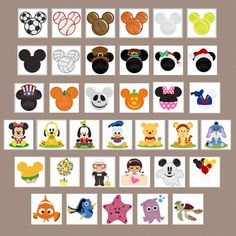 100 Disney SVG Files and Digital Clipart Images by PPbNDesigns