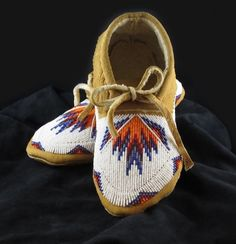 Beaded Moccasins.