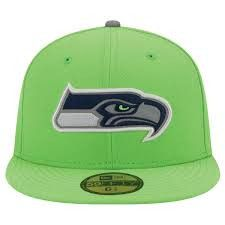 Seattle Seahawks NFL New Era 59Fifty fitted hat NWT new with stickers Hawks #SeattleSeahawks #Seahawks #Hawks #NewEra #NFL #NFLHats #FittedHats #Hats #59Fifty #MarvelousMarvs