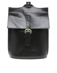single strap leather backpack