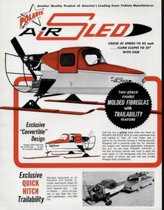 Better yet, an air sled. Vintage Trucks, Vintage Ads, Snow Vehicles, Shanty Boat, Snow Machine, Rc Cars And Trucks, Snow Plow, Fish Design, Sled