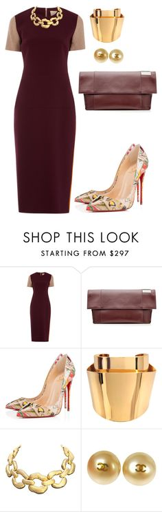 helia's style theory by heliaamado on Polyvore featuring Roksanda Ilincic, Christian Louboutin, Victoria Beckham, Chloé, Chanel and Givenchy