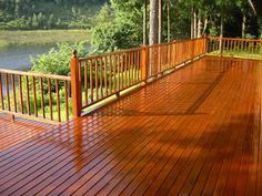 COLOR FOR TRIM AND DECKS    This publication decking by brush because the stain is worked into the wood surface promoting the achievement of even finish penetration into the wood. Description from wooddeckingtoday.blogspot.com. I searched for this on bing.com/images