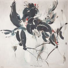 NETÍK MIROSLAV *1920 Kohouti, 1975 Moose Art, Auction, Painting, Animals, Animales, Animaux, Painting Art, Paintings, Paint