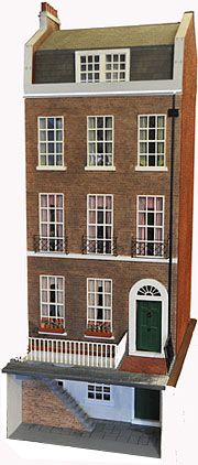Dollhouse based on Charles Dicken's house in London.