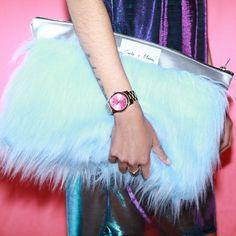 faux fur bag   fashion diy inspiration   easy diy ideas   kitsch style