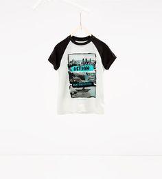 "ZARA - - - Camiseta ""Action skateboarding"""