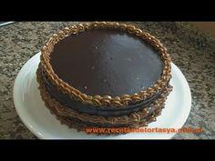 Torta de Chocolate con Cobertura de Chocolate y Dulce de Leche - Recetas...