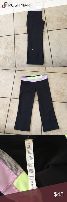 🍋lululemon groovy crops🍋 Perfect condition lululemon athletica Other