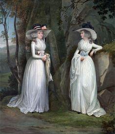 1785-1790 Eleanor and Margaret Ross by Alexander Nasmyth