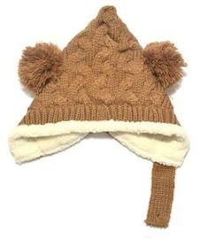 Amazon   耳まであったか! ベビー ボンボン とんがり ニットキャップ ニット帽 女の子 男の子 赤ちゃん キッズ 子供 ニット 冬 帽子 (ブラウン)   帽子・キャップ・ハット   ベビー&マタニティ
