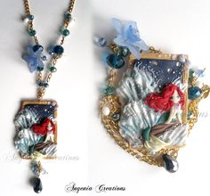 Angenia Creations, blogspot, Ariel, Little Mermaid, Craft, Product, Necklace