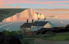 Today I've a selection of illustrations for you from the project 'The Road to Rio' made by Colin Bigelow. It's a nice set of colorful, geometrical illustrations, with a kind of rest and peace surrounding… Character Design Animation, Environment Design, Great Britain, Decoration, Seattle Skyline, Location History, Graphic Illustration, Behance, Exterior