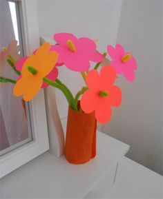 Pipe cleaner flowers.