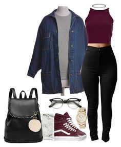 """Untitled #235"" by taylordena ❤ liked on Polyvore featuring Vans, Topshop and Michael Kors"