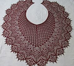 Ravelry: Hortense Beaded Lace Shawl pattern by Anna Victoria, Beaded all over lace suitable for beginner to intermediate knitter comfortable with knitting from charts.  Stockinette stitch body version included.  Charts only. There is no line by line description available.