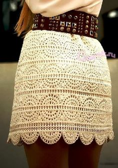 Crochet A-line Mini Skirt Free Pattern- Crochet Women Skirt Free Patterns (Top Moda Crochet) Skirt Pattern Free, Crochet Skirt Pattern, Crochet Skirts, Crochet Clothes, Free Pattern, Skirt Patterns, Crochet Patterns Free Dress, Knitting Patterns, Mode Crochet