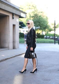 BLACK LEATHER : P.S. I love fashion by Linda Juhola