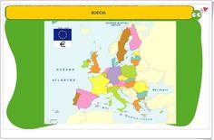 Mapa de la Unión Europea (Juego de Geografía) Anaya, Editorial, Science Area, Interactive Activities, Teaching Resources