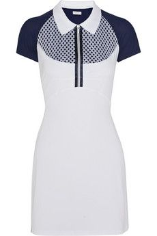 Monreal London Mesh-paneled stretch-jersey dress | NET-A-PORTER