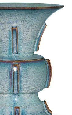 A rare 'number six' Jun zun-shaped vase, Yuan-Ming dynasty, 14th-15th century