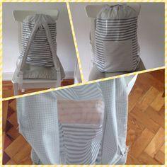 Stripes bag Striped Bags, Hamper, Stripes, Organization, Etsy, Home Decor, Getting Organized, Organisation, Interior Design