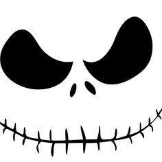 1000 images about svg files on pinterest dr seuss for Jack skellington face template
