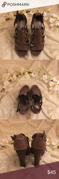 """Kristin Davis """"Gladys"""" Leather Heeled Sandals Kristin Davis """"Gladys"""" strapped heels. Upper leather. 4"""" heels. In perfect condition, new without tags. Kristin Davis Shoes Heels"""