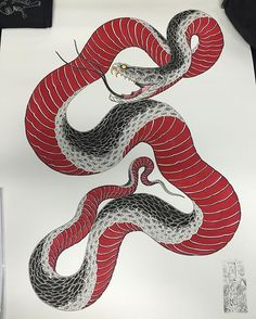 I'll have this original up for auction at the fundraiser this at hotel surta bravo Laneway of 25 easy street to 1 am See you there! Snake Drawing, Snake Art, Japanese Drawings, Japanese Art, Tattoo Sketches, Tattoo Drawings, Japanese Snake Tattoo, Intricate Tattoo, Traditional Japanese Tattoos