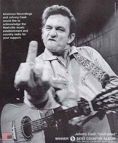 Johnny Cash hangs over my bed!