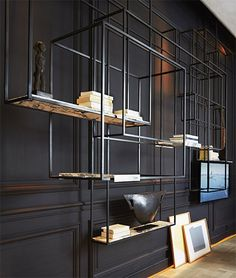 Interesting #shelving from @Bismut_Architecture It creates a piece of #artwork on the wall.