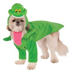 Feel like your walking on the set with the Ghostbusters Slimer Dog Costume! Officially licensed Jumpsuit with arms Headpiece secures under chin 100% Polyester Hand wash only Dogs will be ghostly slime