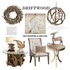 """Decorate With Driftwood"" by hastypudding ❤ liked on Polyvore featuring interior, interiors, interior design, home, home decor, interior decorating, Elle, Pier 1 Imports, Uttermost and Palecek"