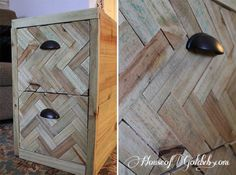 Filing Cabinet Upgrade via House of Gold. This has potential for the guest room/office