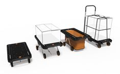 The new EZ Cart Concept Platform Trolley features 3 things: Users can now pull out to tight things up with bungee cords.