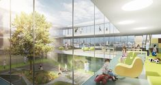 Architects von Gerkan, Marg and Partners (gmp), with partners JB Ferrari, have won first prize in an international competition to design a new children's emergency unit at the Lausanne University Hospital in Switzerland.