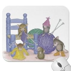 """""""Knit-a-rific Mouse Pad"""" from House-Mouse Designs / www.house-mouse.com - (PAD-2007-5). This item was recently purchased off from our web site, www.house-mouse.com. Click on the image to see more information."""
