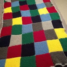 Knitted blankie for Mandela Day 2015